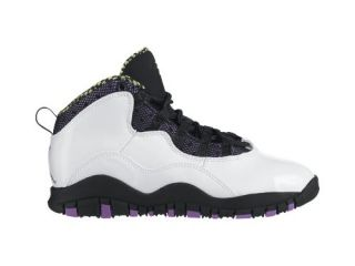 Air Jordan 10 Retro Text (10.5c 3y) Pre School Girls Basketball Shoe