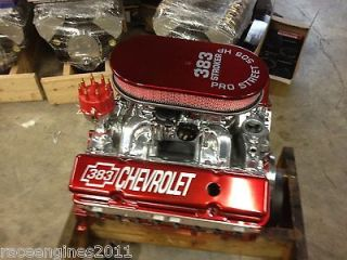 383 STROKER MOTOR 505HP ROLLER TURN KEY PRO STREET CHEVY CRATE ENGINE