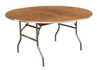 New 48 Round Wood Folding Tables School Church Restaurant Dining
