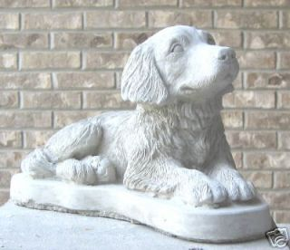 concrete golden retriever dog statue monument  25