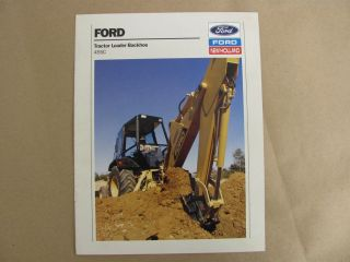 FORD NEW HOLLAND 455C TRACTOR LOADER BACKHOE SALES BROCHURE