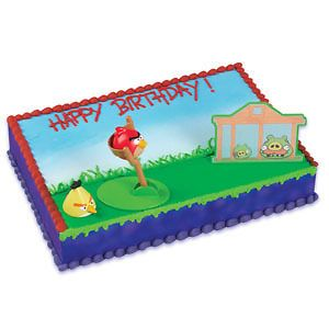PARTY BIRTHDAY FAVORS CAKE TOPPER ANGRY BIRDS SLING SHOT KIT