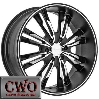 20 Black Panther Burst Wheels Rims 5x139.7 5 Lug Dodge Ram Durango