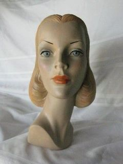 Vintage Style Mannequin Head advertising Display #18 by CRUNKLETON