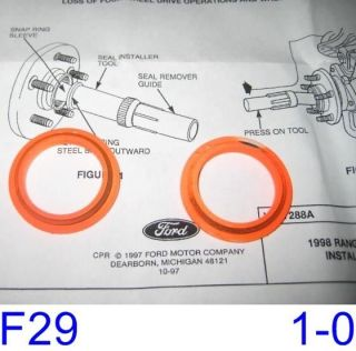Ford Explorer Ranger F250 Front Axle Retainer Rings OEM Ford NEW (F29