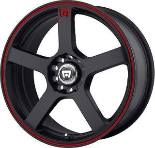 17 Inch Wheels Rims Motegi Racing Black with Red MR116 5x100 5x114.3 5