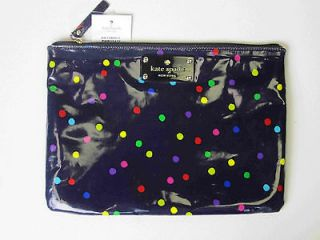 Kate Spade Navy / Multi Color Spot Dots Gia Cosmetic Pouch Bag Case
