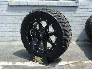 Fuel Off Road BOOST Black Nitto Trail Grappler 305/55R20 33 Mud tires