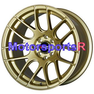 16 16x8 XXR 530 Gold Concave Rims Wheels 4x100 84 85 86 87 88 89 90 91
