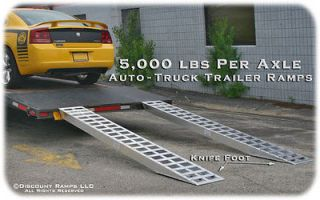 Newly listed 10 5000 lb ALUMINUM TRUCK CAR TRAILER RAMPS PLATE ENDS