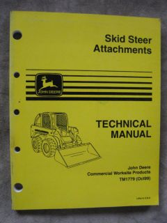 john deere skid steer attachments technical manual