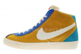 Nike Bruin Mid PRM VNTG NRG Vintage Gold Blue Suede Mens Casual Shoes