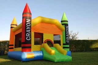 Crayon Theme Bounce House Inflatable Bouncer Moonwalk Jumper Jump