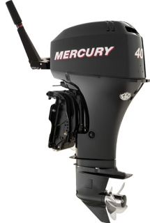 40 HP Mercury 4 Stroke 20 Shaft Manual Start Tiller Handle Gas Assist
