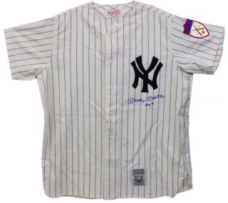 Signed Autographed Jersey Mitchell and Ness NYY 1952 Home