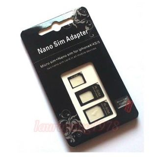 Adapters Nano Sim Micro Sim Sim Card Adapter Tray Holder for iPhone