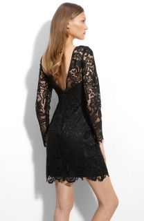 New Adrianna Papell Lace Overlay Sheath Dress Black 4P