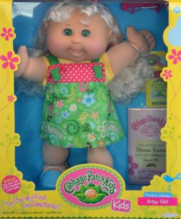 Cabbage Patch Kids Doll Alanna Kimber 2 Teeth Blonde Hair Green Eyes