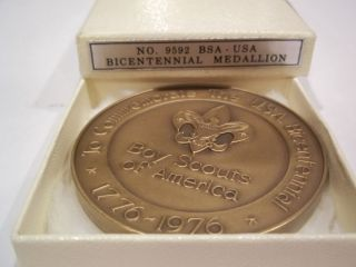 BOY SCOUTS 1976 BICENTENNIAL BRONZE MEDAL MEDALLIC ART CO BY A M