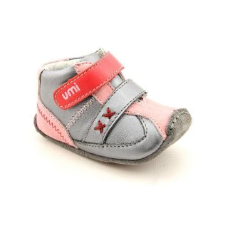 Umi Alix Youth Kids Girls Size 3.5 Gray Leather Booties Shoes