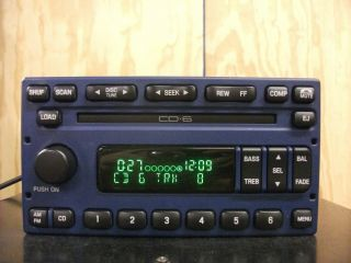 Ford factory AM FM 6 disc CD player radio stereo 98 03 BLUE 1S8F