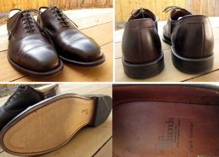 Allen Edmonds Park Avenue 10.5 D Brown   Barely Used