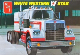 AMT 1 25 Scale White Western Star Tractor Truck Skill 3 Plastic Model