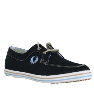 Fred Perry B7006 Drury Mens Boat Shoes Twilight Blue