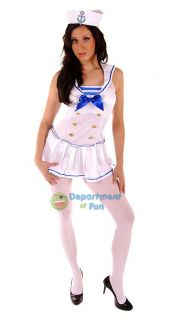 Ladies Sexy Sailor Girl Fancy Dress Costume Outfit