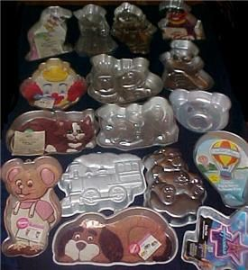 16 Wilton Character Cake Pan Lot Anim Cracker Muppet Puppy Kitty Care