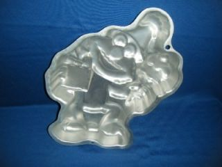 Party Elmo Shape Cake Tin Wilton 1996 Aluminum Baking Pan