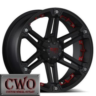 16 Black Tuff T 01 Wheels Rims 5x139.7 5 Lug Dodge Ram Dakota Durango