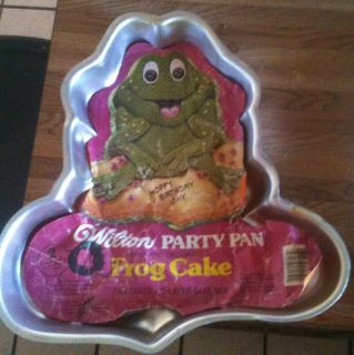 Wilton BIG FROG cake pan mold tin INSERT toad frogi ANIMAL PRINCE
