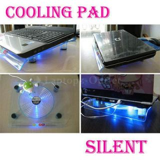 828 Big Fan Light Cooling Pad for Laptop Notebook 14.1 to 15.4 Blue