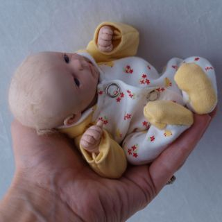 DREAMS OOAK MINI CLAY SCULPT Baby Boy Doll Reborn Artist Ruth Annette