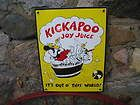 Kickapoo Joy Juice Sign Die Cut Emboss Man Store 1965