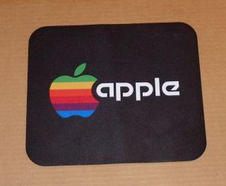 Vintage Apple Computer Rainbow Apple Logo Mouse Pad S