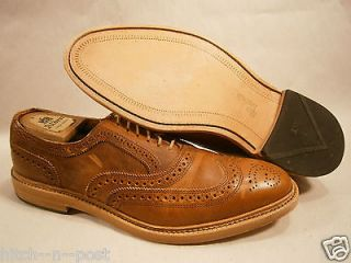 ALLEN EDMONDS MCTAVISH OXFORD NATURAL 11 B NARROW $295 WINGTIP