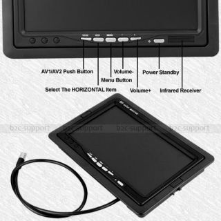 TFT LCD Car Monitor for CCTV Reversing Rearview Camera