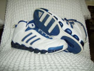 Adidas White Blue Mens Basketball shoes Size 11 used in great cond