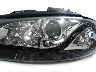 Depo 06 09 Audi A3 8P 8PA 8P1 Black Bi Xenon HID R8 LED Headlight