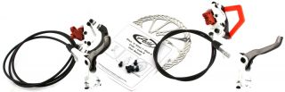 Avid Elixir 5 PR Hydraulic Disc Brakeset Brake Set White Pair MTB F R
