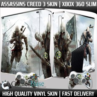 high quality vinyl skin featuring an amazing Assassins Creed 3 design