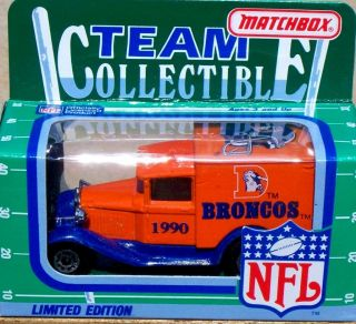 1990 Matchbox NFL Football Denver Broncos Ford Truck