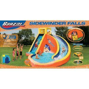 NEW Banzai Water Slide SIDEWINDER FALLS Inflatable Bounce House