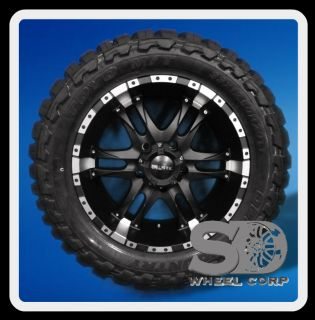 20 BALLISTIC WIZARD W/ 33X12.50X20 TOYO OPEN COUNTRY MT TIRES BLACK