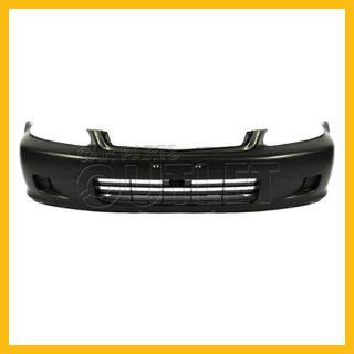 1999 2000 Honda Civic Front Bumper Cover Black Plastic