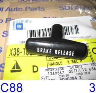 Chevy GMC Truck Van Car Parking Brake Release Handle Factory GM C88 3Z