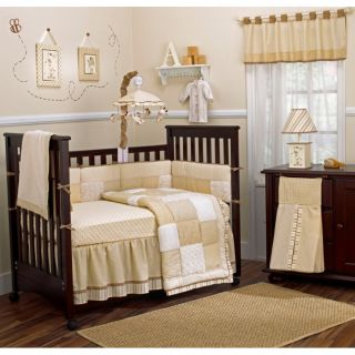 Neutral Boy Crib Bedding Set Mobile Art Hamper Decal 15 Pc