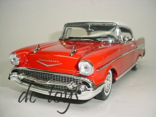 Motormax 1957 Chevrolet Chevy Bel Air 1 18 Red